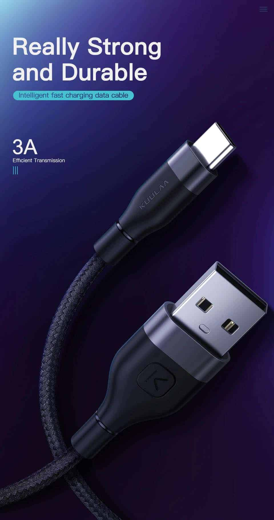 KUULAA USB Type C Cable 3A Really Strong Durable