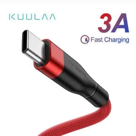 KUULAA USB Type C Cable 3A display 01