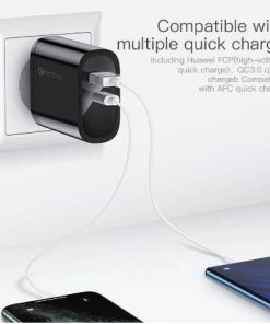 Kuulaa Quick Charger Type C and USB 36W display 02