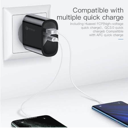Kuulaa Quick Charger Type C and USB 36W display 02