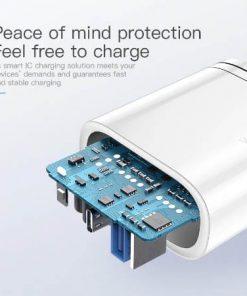 Kuulaa Quick Charger Type C and USB 36W display 03
