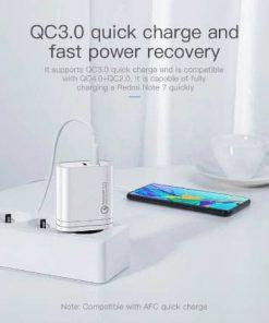 Kuulaa Quick Charger Type C and USB 36W display 05