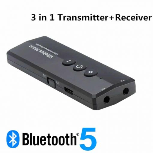 ZF-360A 3 in 1 Bluetooth 5.0 Audio Transmitter Receiver For in car pc aux computer speaker TV 01