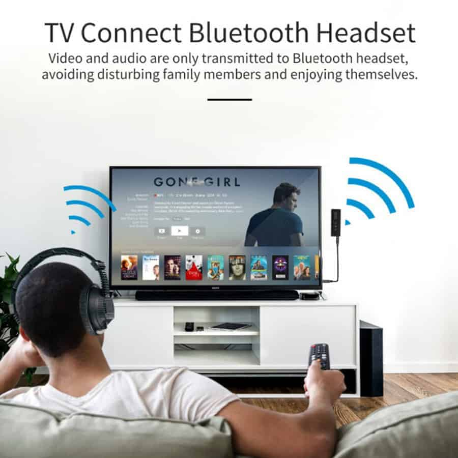 ZF-360A 3 in 1 Bluetooth 5.0 Audio Transmitter Receiver TV Connect Bluetooth Headset