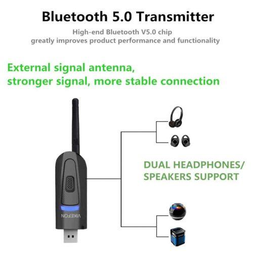 bluetooth 5.0 audio transmitter External signal antenna Stronger signal