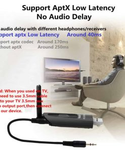 bluetooth 5.0 audio transmitter Support AptX Low Latency no Audio Delay