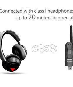 bluetooth 5.0 audio transmitter aptX USB A2DP CSR Vikefon Connect with Class I Headphone up to 20 meters
