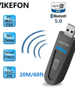 bluetooth 5.0 audio transmitter aptX USB A2DP CSR Vikefon spec