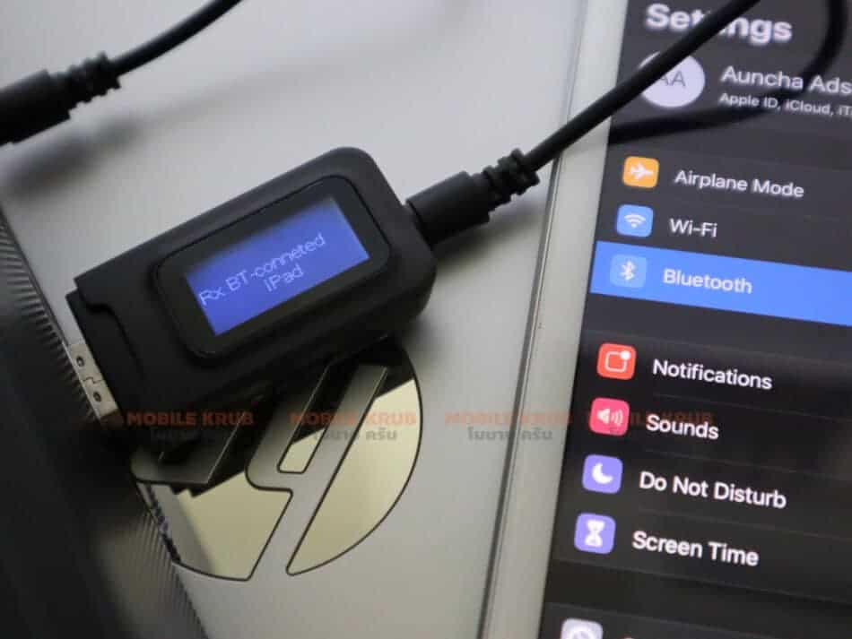Bluetooth 5.0 Audio Receiver conneted ipad