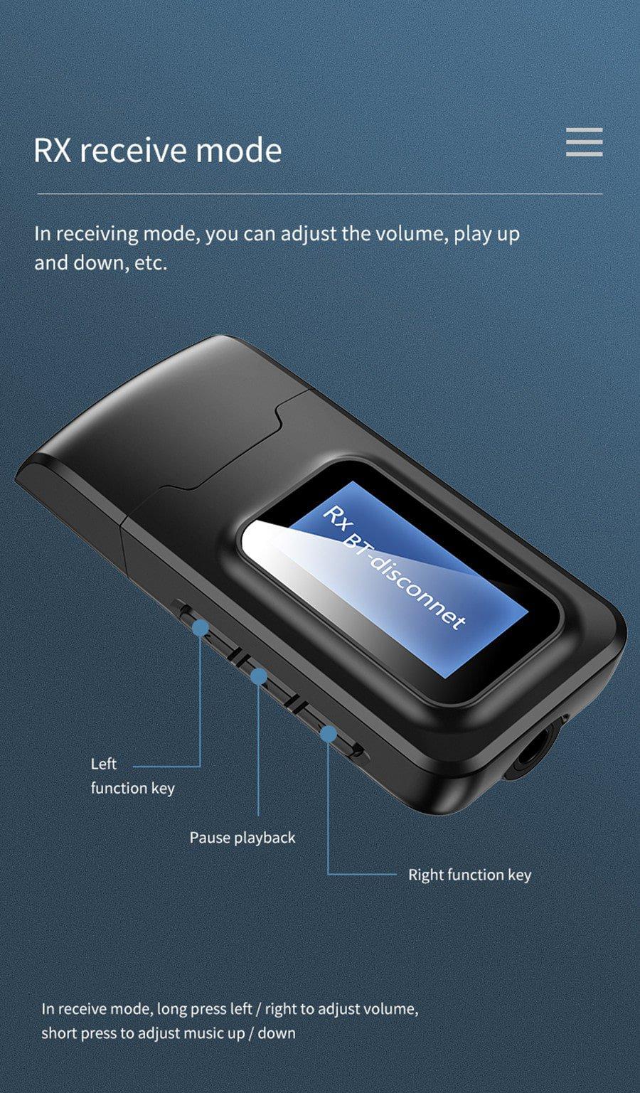Bluetooth 5.0 Audio Receiver mode