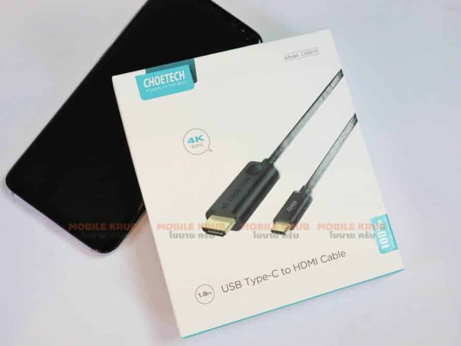 Choetech Type C to HDMI Cable 4K 60HZ type PVC Overview
