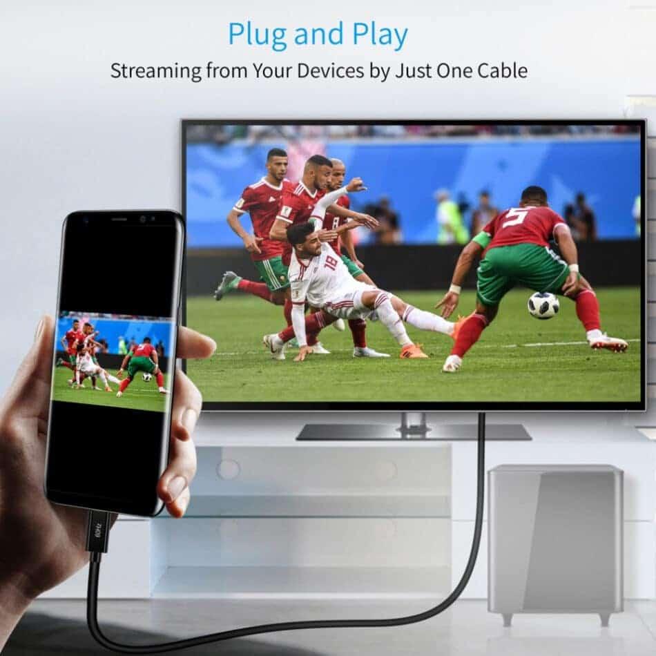 Choetech Type C to HDMI Cable 4K 60HZ type PVC Plug