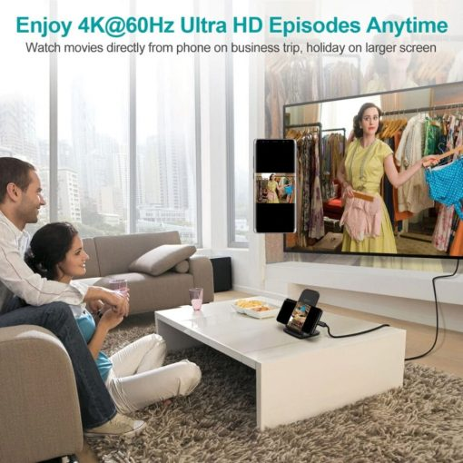 Choetech Type C to HDMI Cable 4K 60HZ type PVC enjoy episodes anytime