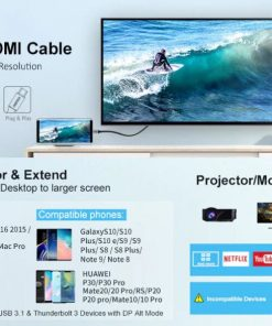Choetech Type C to HDMI Cable Mirror Extend