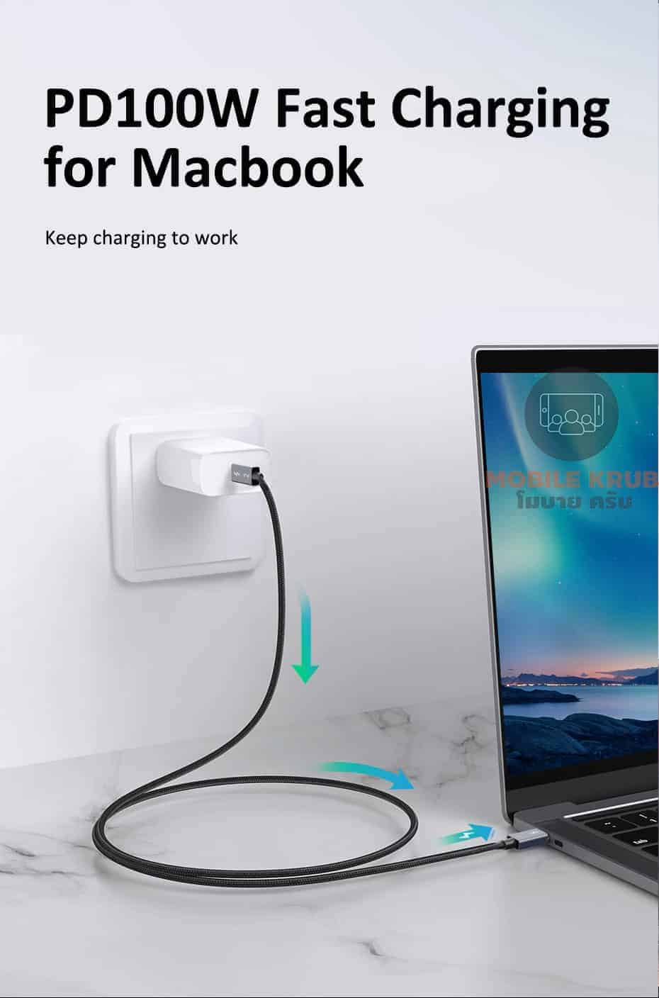 CABLETIME Thunderbolt 3 Cable USB-C to Type C PD 100W Fast Charging