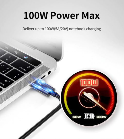 Thunderbolt 3 Cable 100W Power max