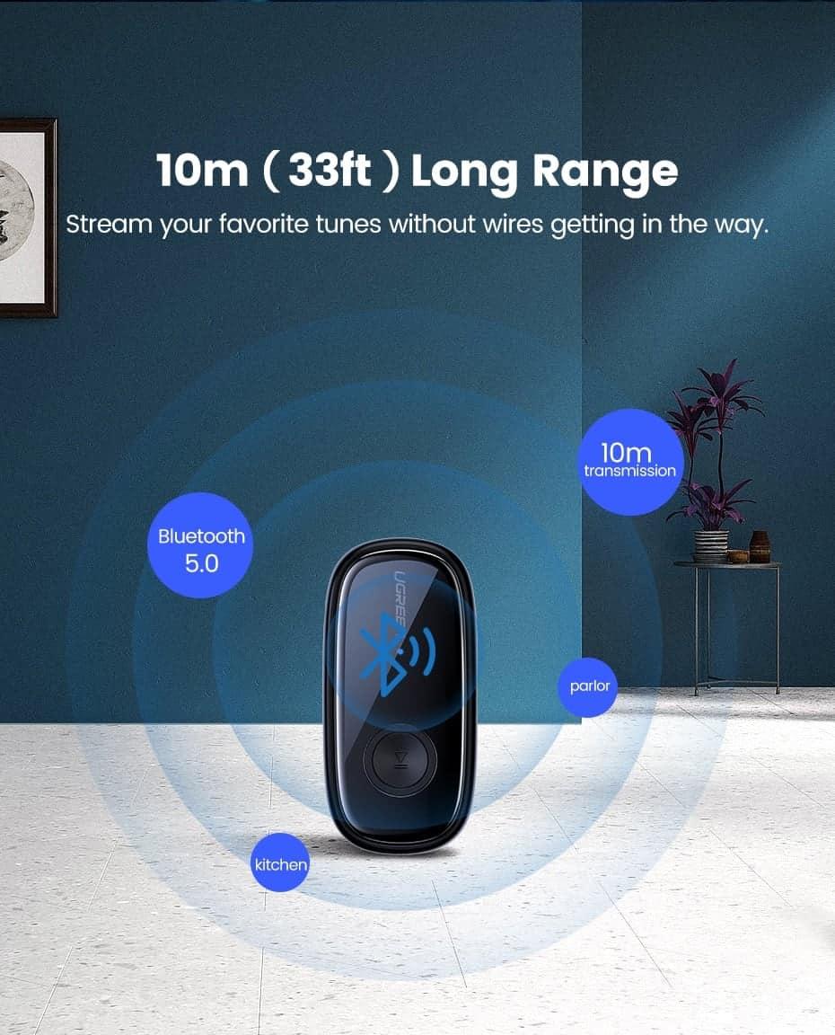 Ugreen Bluetooth Receiver 5.0 10m long Range
