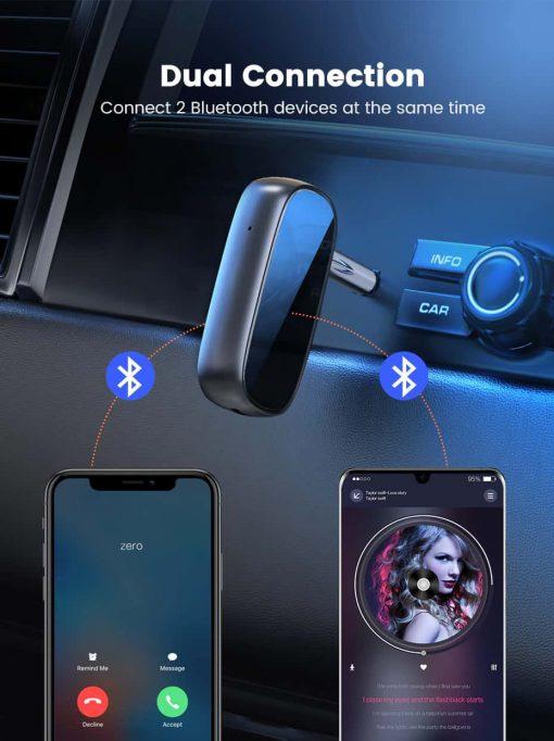 Ugreen Bluetooth Receiver 5.0 aptX LL 3.5mm AUX Dual Connection