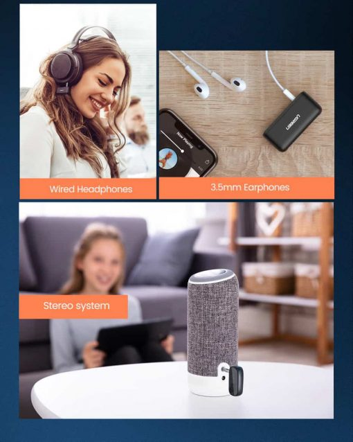 Ugreen Bluetooth Receiver 5.0 for wired headphones earphones Stereo system