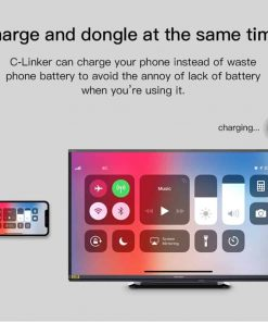 iphone-to-tv-GGMM Charge and dongle at the same time