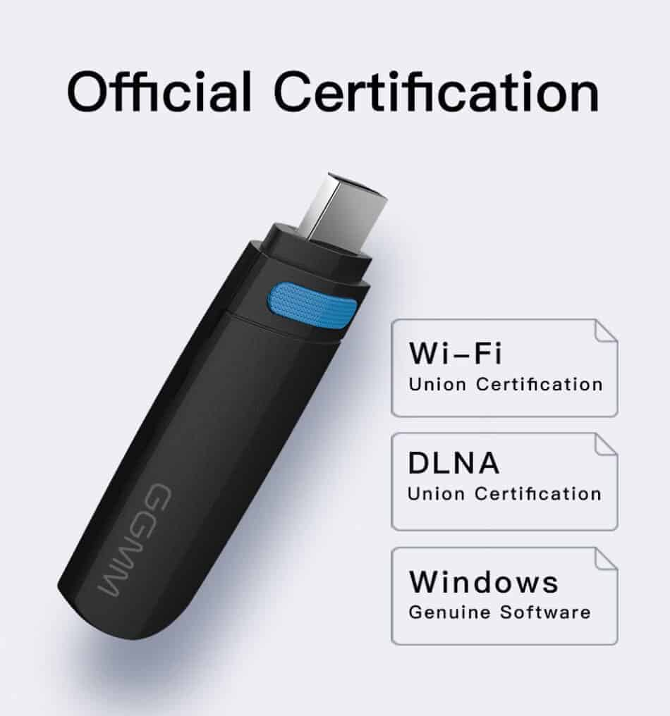Dongle WiFi Wireless HDMI TO TV WiFi 5G-2.4G for YouTube GGMM Official Certification