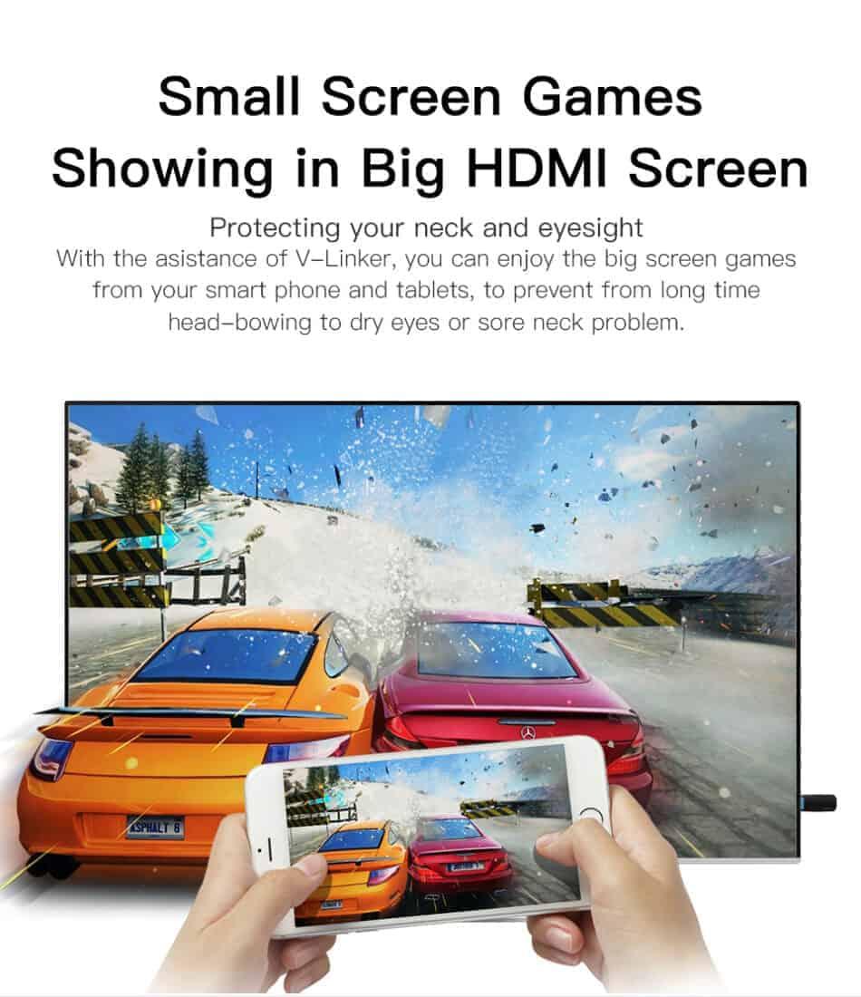 Dongle WiFi Wireless HDMI TO TV WiFi 5G-2.4G for YouTube GGMM Small Screen Games showing in big HDMI Screen