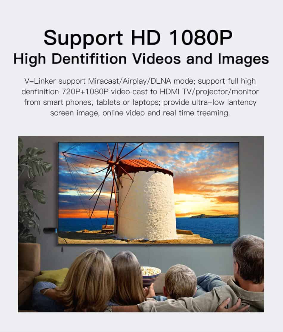 Dongle WiFi Wireless HDMI TO TV WiFi 5G-2.4G for YouTube GGMM Support HD 1080P Video and images