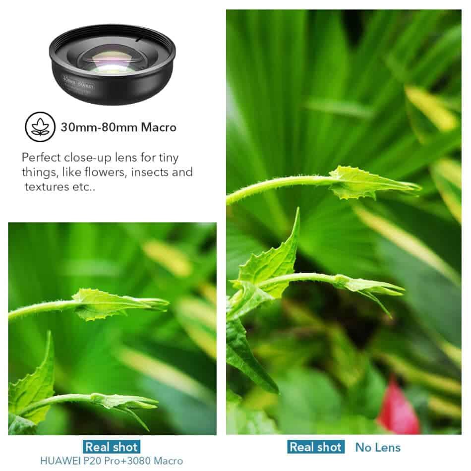 APEXEL HD optic camera phone lens 30-80mm macro lens 01