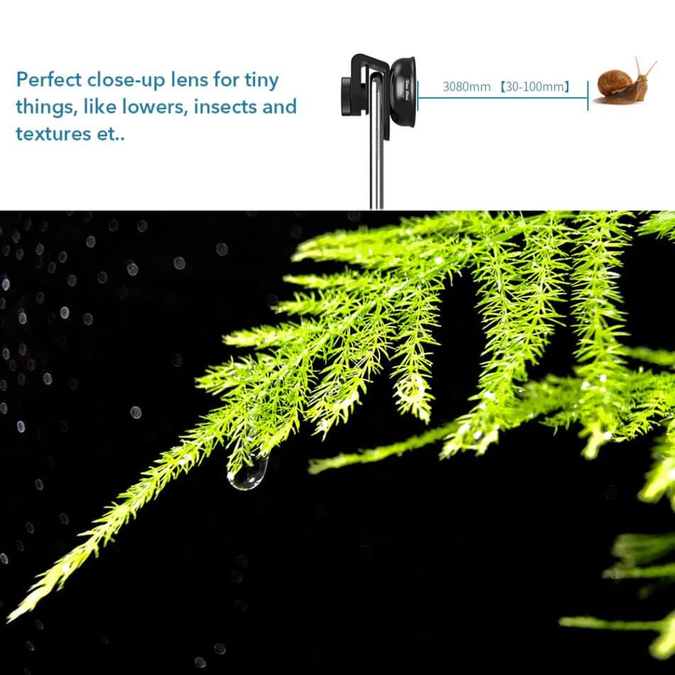 APEXEL HD optic camera phone lens 30-80mm macro lens 03