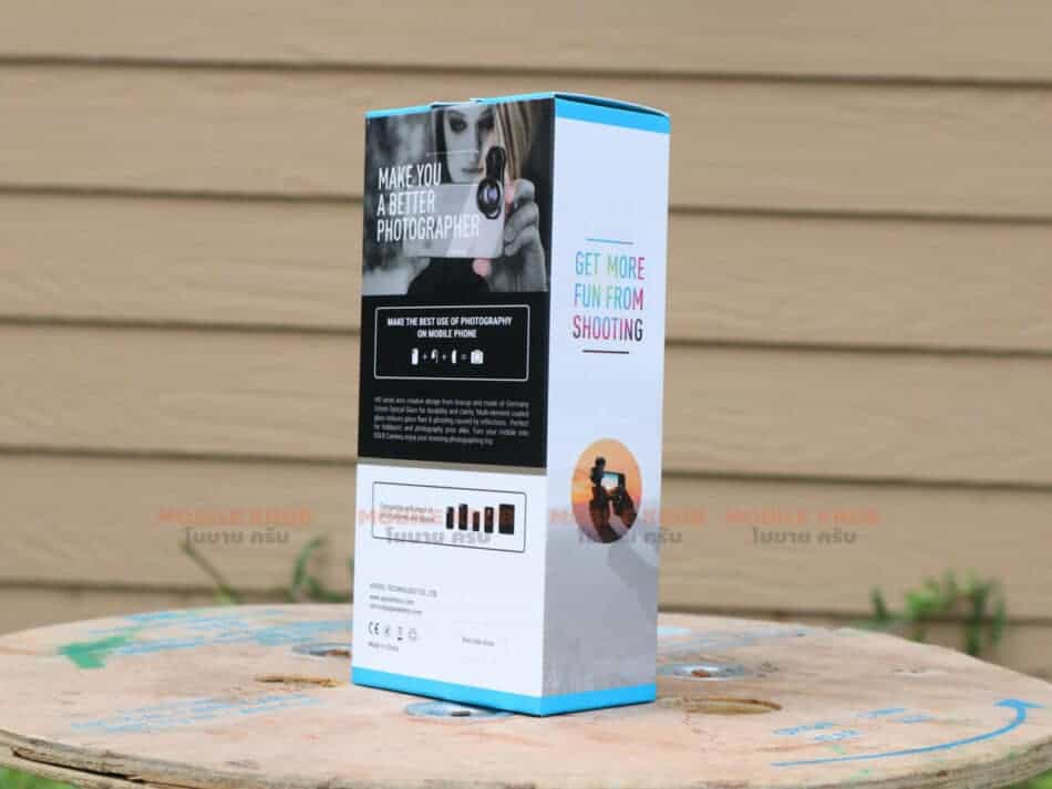 APEXEL HD optic camera phone lens 30-80mm macro lens back box