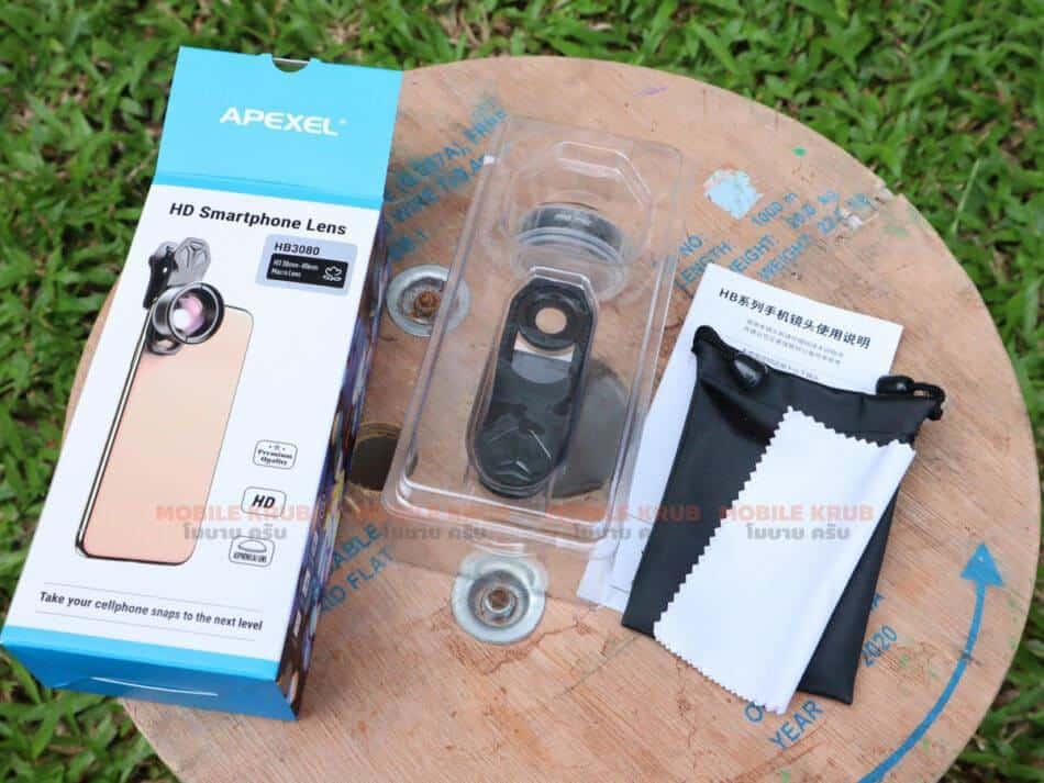 APEXEL HD optic camera phone lens 30-80mm macro lens open box