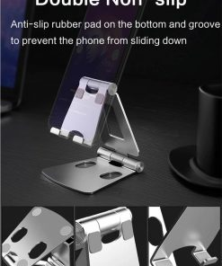 Foldable Aluminum stand for smart phone lzj01 double non-slip