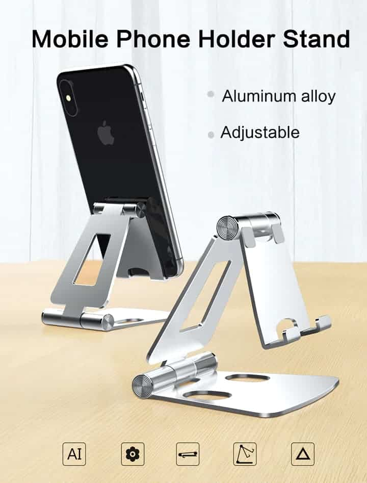 Foldable Aluminum stand for smart phone lzj01 overview