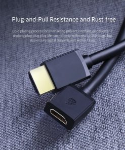 Hagibis HDMI Extension Cable 4K 3D HDMI2.0 male to female extender Plug and Pull resistance and rust - free
