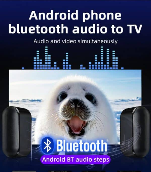 and phone bluetooth audio to tv audio and video simultaneously