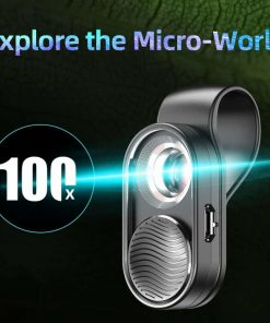 APEXEL100X magnification microscope lens mobile LED Light_explore the micro world