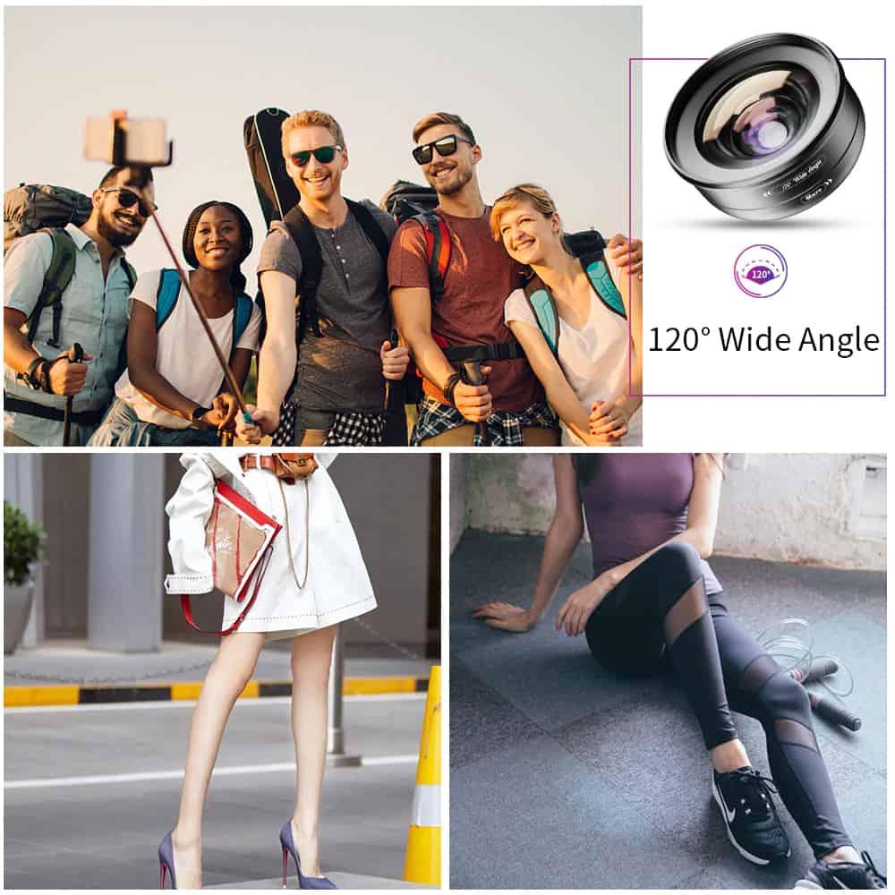 APEXEL HD Camera Phone Lens kit 120 degree 4K Wide angle 10x macro lens 04