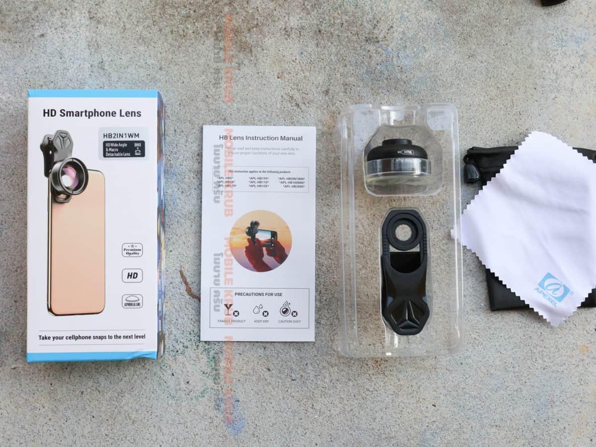APEXEL HD Camera Phone Lens kit 120 degree 4K Wide angle 10x macro lens real product 03
