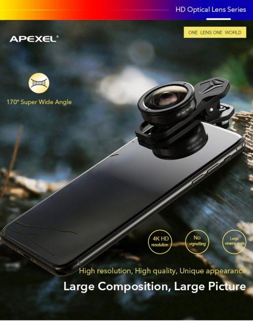 APEXEL optic phone lens HD 170 degree super wide 01