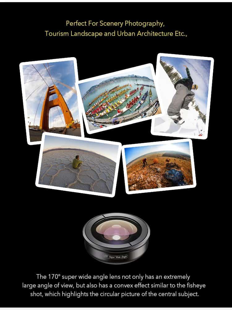 APEXEL optic phone lens HD 170 degree super wide 02