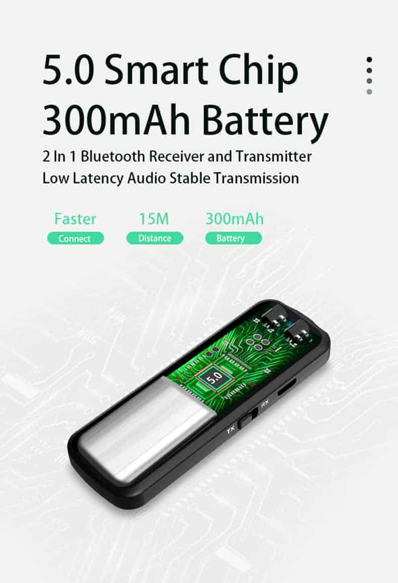 Bluetooth 5.0 Audio Transmitter Receiver - ZF-360B 4 in 1- discription-11