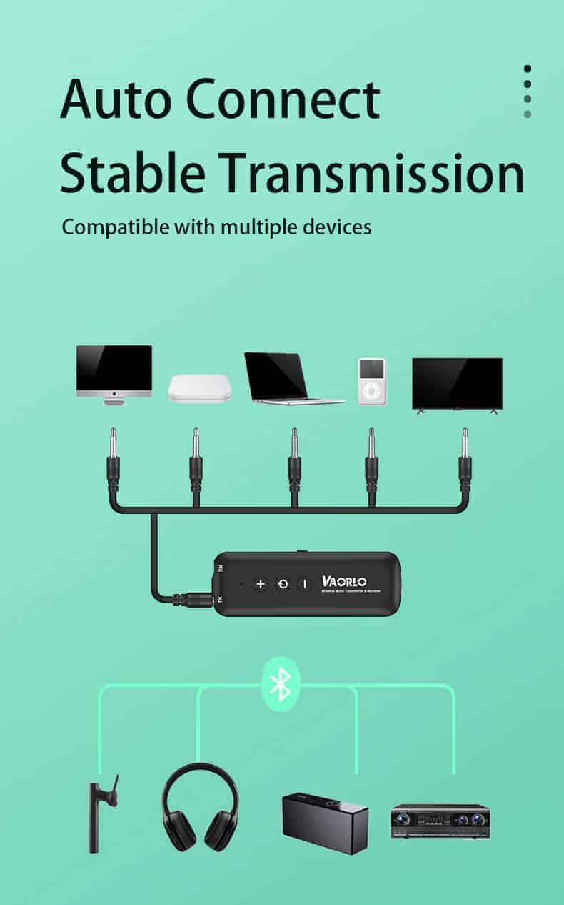 Bluetooth 5.0 Audio Transmitter Receiver - ZF-360B 4 in 1- discription-12